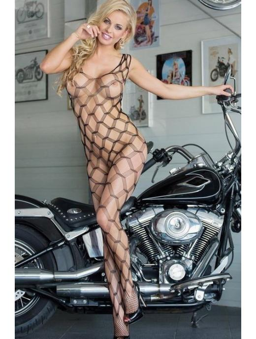 Bodystocking SOFTLINE She-cat černý - S/L